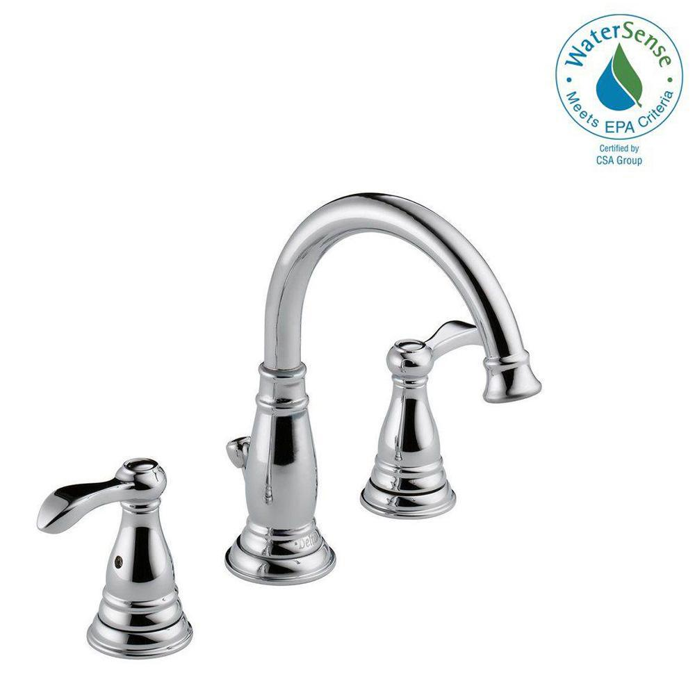 Delta porter in widespread handle bathroom faucet