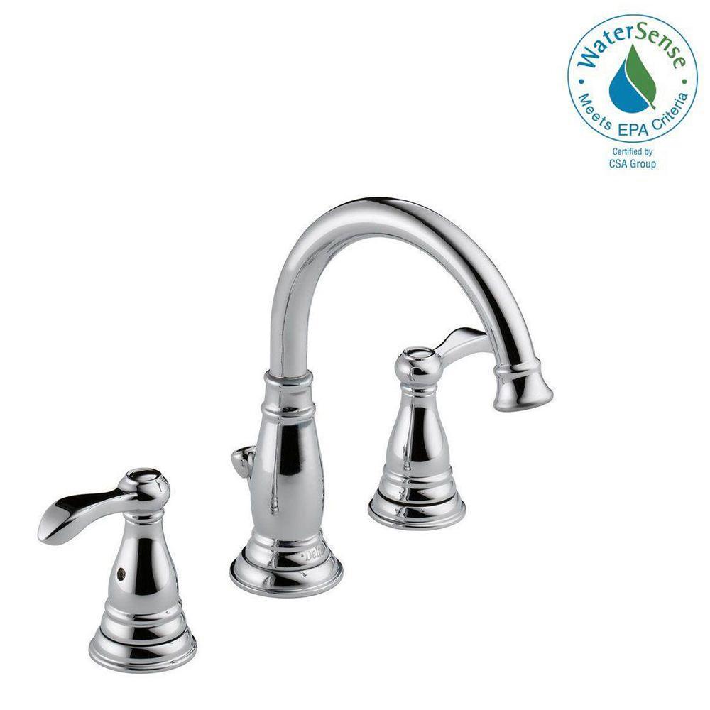 Widespread 2 Handle Bathroom Faucet In Chrome
