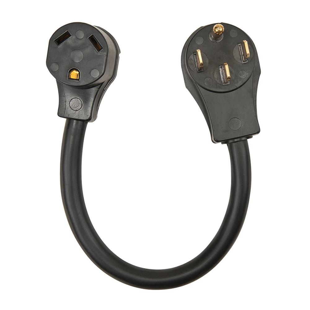 30 amp male 15 amp female rv power cord adapter 30am15af12 the home depot. Black Bedroom Furniture Sets. Home Design Ideas