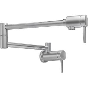 Contemporary Wall Mounted Potfiller in Arctic Stainless