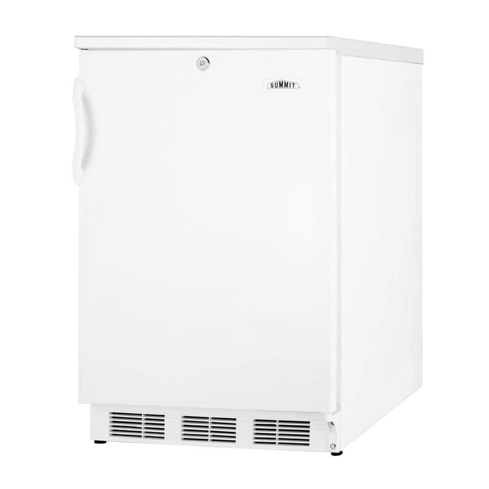 Summit Appliance 5.1 cu. ft. Mini Refrigerator with Lock in White