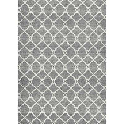 Silky Dark Gray/Light Gray 8 ft. x 10 ft. Indoor Area Rug