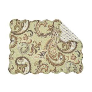C & F Home Green Zoey Quilted Placemat (Set of 6) by C & F Home