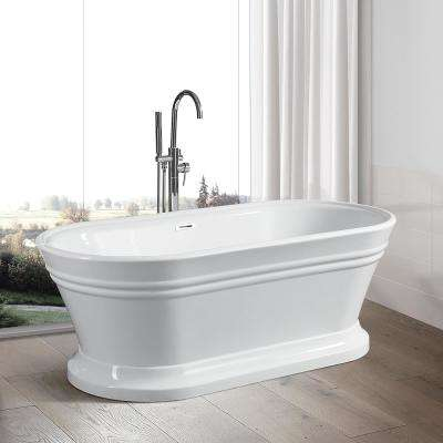 Versailles 67 in. Acrylic Flatbottom Freestanding Bathtub in White