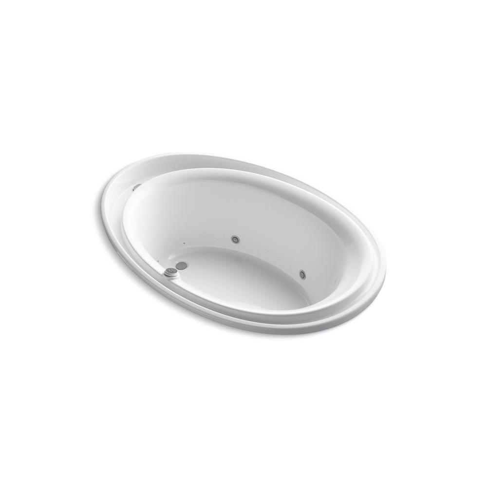KOHLER Purist 6 ft. Rectangular Drop-in Air Bath Tub in White-K ...