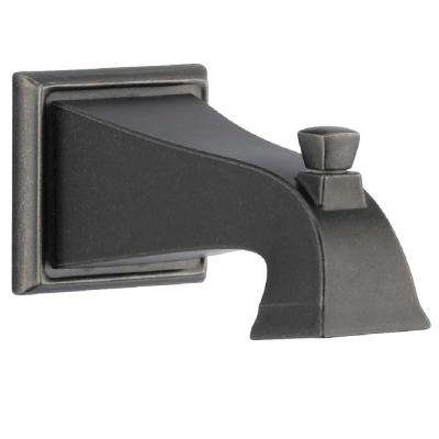 Dryden Pull-up Tub Spout in Aged Pewter