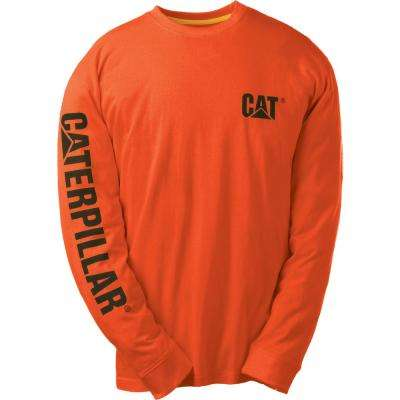 Trademark Banner Men's Medium Adobe Orange Cotton Long Sleeved T-Shirt