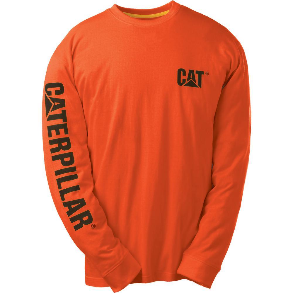 Trademark Banner Men's Medium Adobe Orange Cotton Long Sleeved T-Shirt