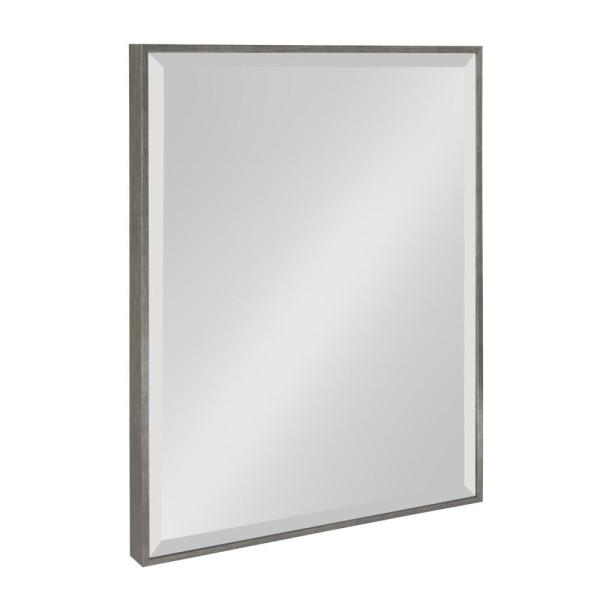 Medium Rectangle Silver Beveled Glass Contemporary Mirror (24.75 in. H x 18.75 in. W)