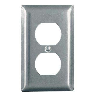 302 1-Gang Duplex Wall Plate in Stainless Steel