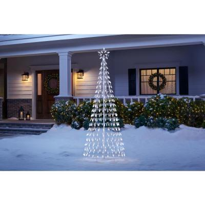 6 ft White Tree with Star