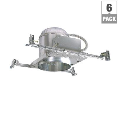 H7 6 in. Aluminum Recessed Lighting Housing for New Construction Ceiling, Insulation Contact (6-Pack)
