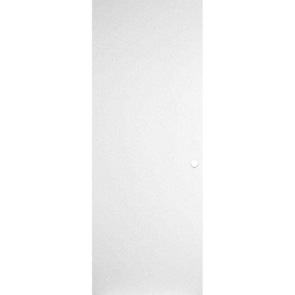 30 in. x 80 in. Primed Smooth Flush Hardboard Hollow Core Composite Interior Door Slab with Bore