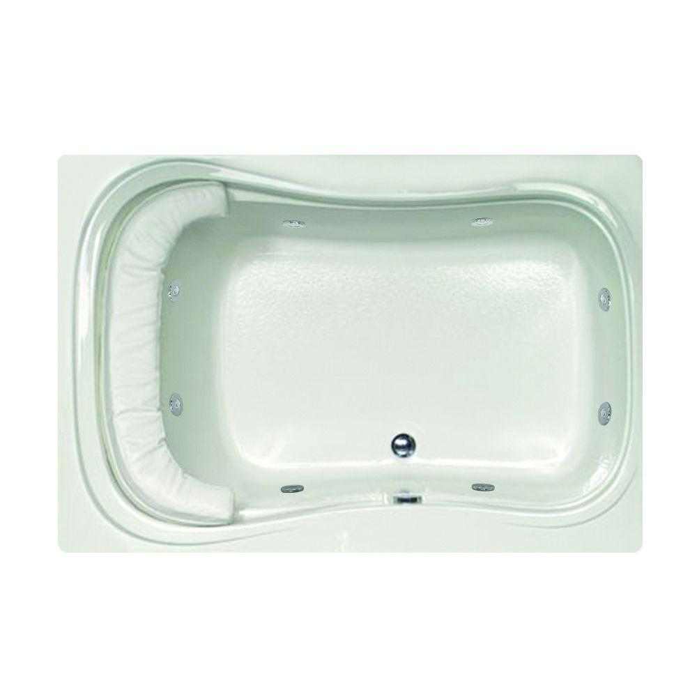 Lancing 5 ft. Reversible Drain Whirlpool Tub in White