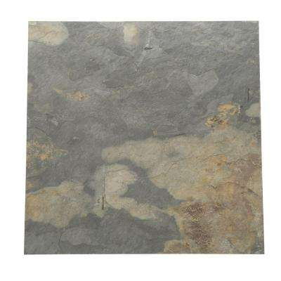 Natural Stone Collection California Gold 16 in. x 16 in. Slate Floor and Wall Tile (10.68 sq. ft. / case)
