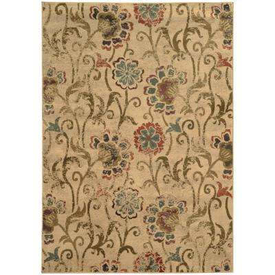 Summerwood Tan 5 ft. x 8 ft. Area Rug