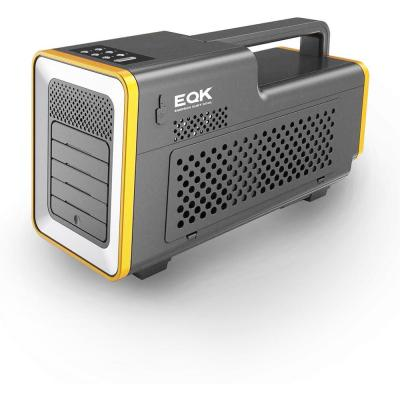1,000 BTU Portable Air Conditioner in Grey and Yellow