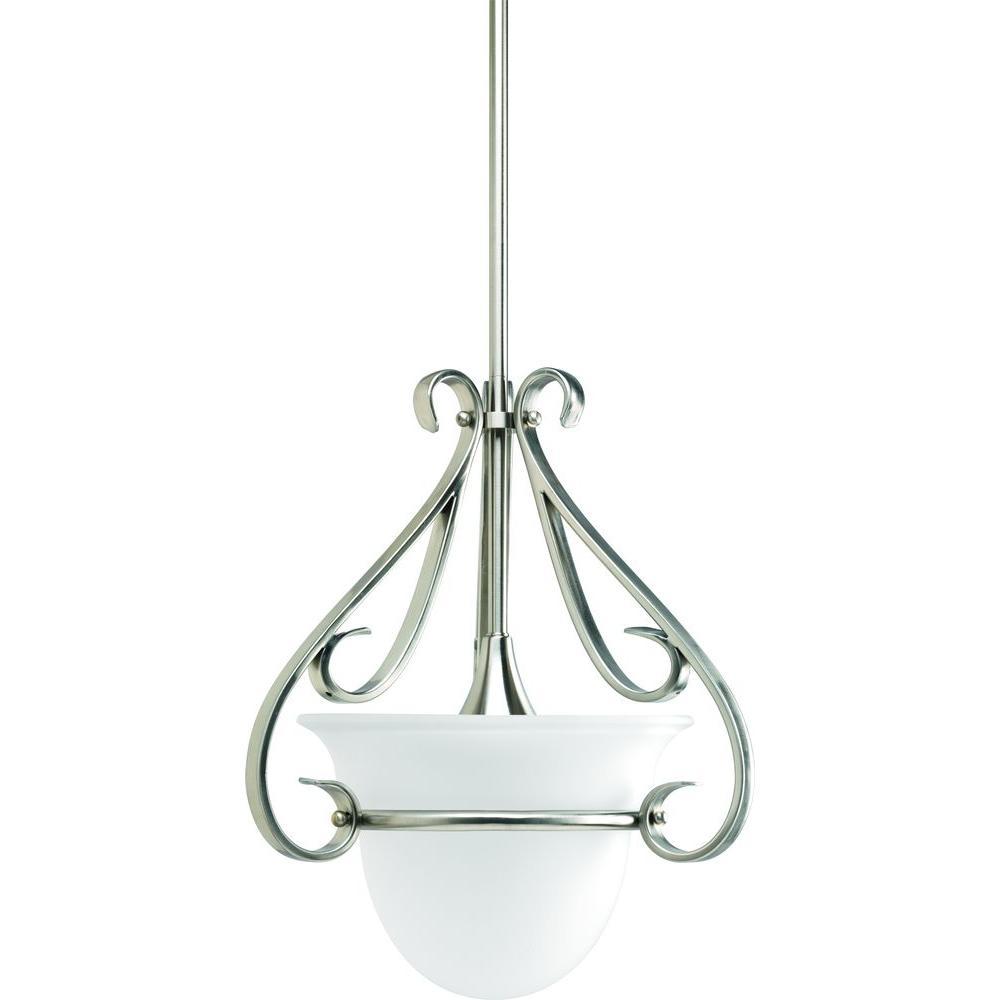 Torino Collection 1-Light Brushed Nickel Mini Pendant