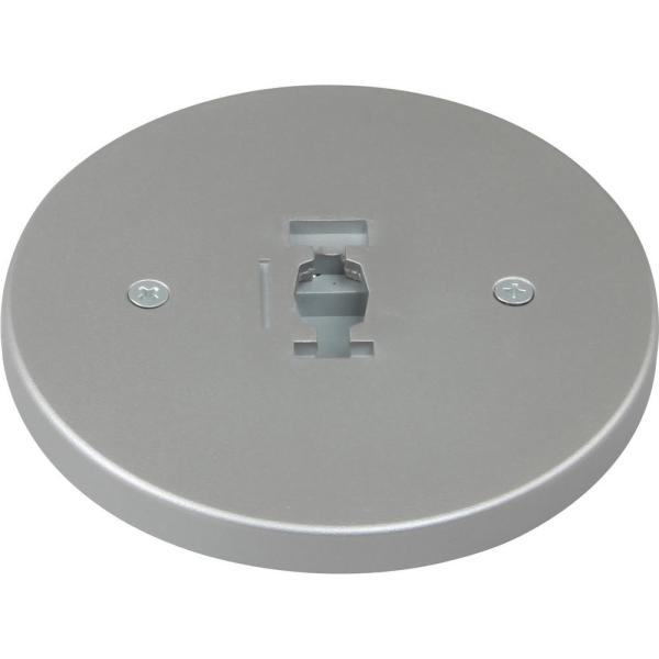 Silver Gray Monopoint Canopy for 120-Volt 1-Circuit/1-Neutral or 120-Volt 2-Circuit/1-Neutral Track Heads