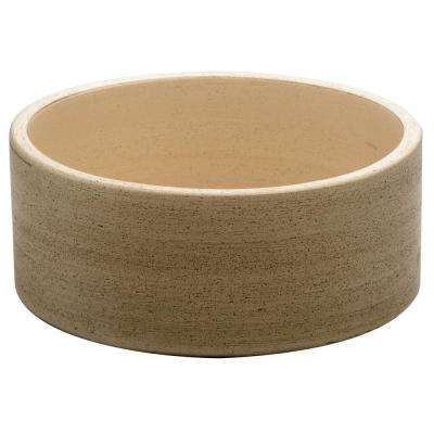 Fango 12 in. Cylindrical Above Counter Basin in Beige