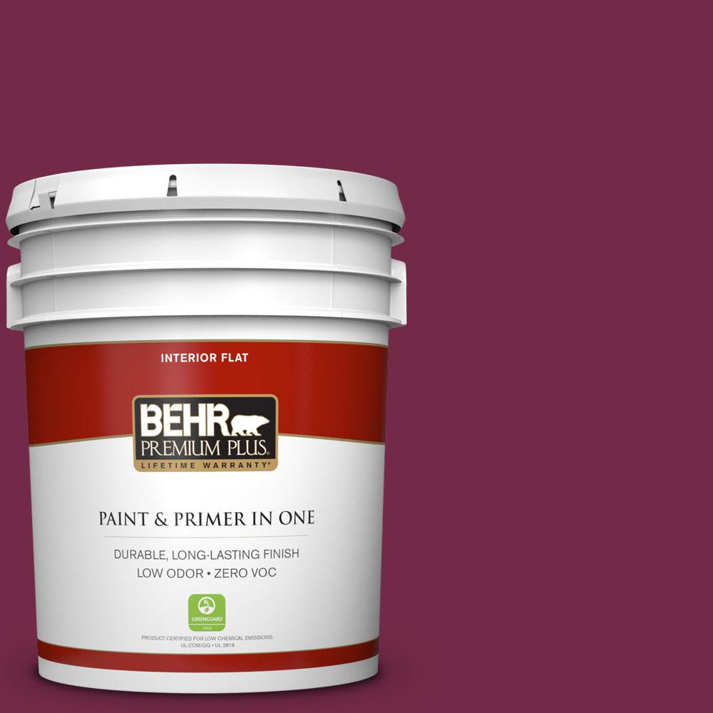 5 gal. #BIC-51 July Ruby Zero VOC Flat Interior Paint