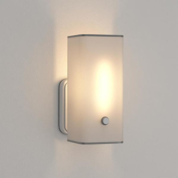 Hampton Bay 1 Light White Bath Sconce