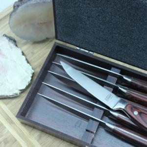 Click here to buy BergHOFF Pakka Wood Steak Knife Set with Case (6-Pack) by BergHOFF.