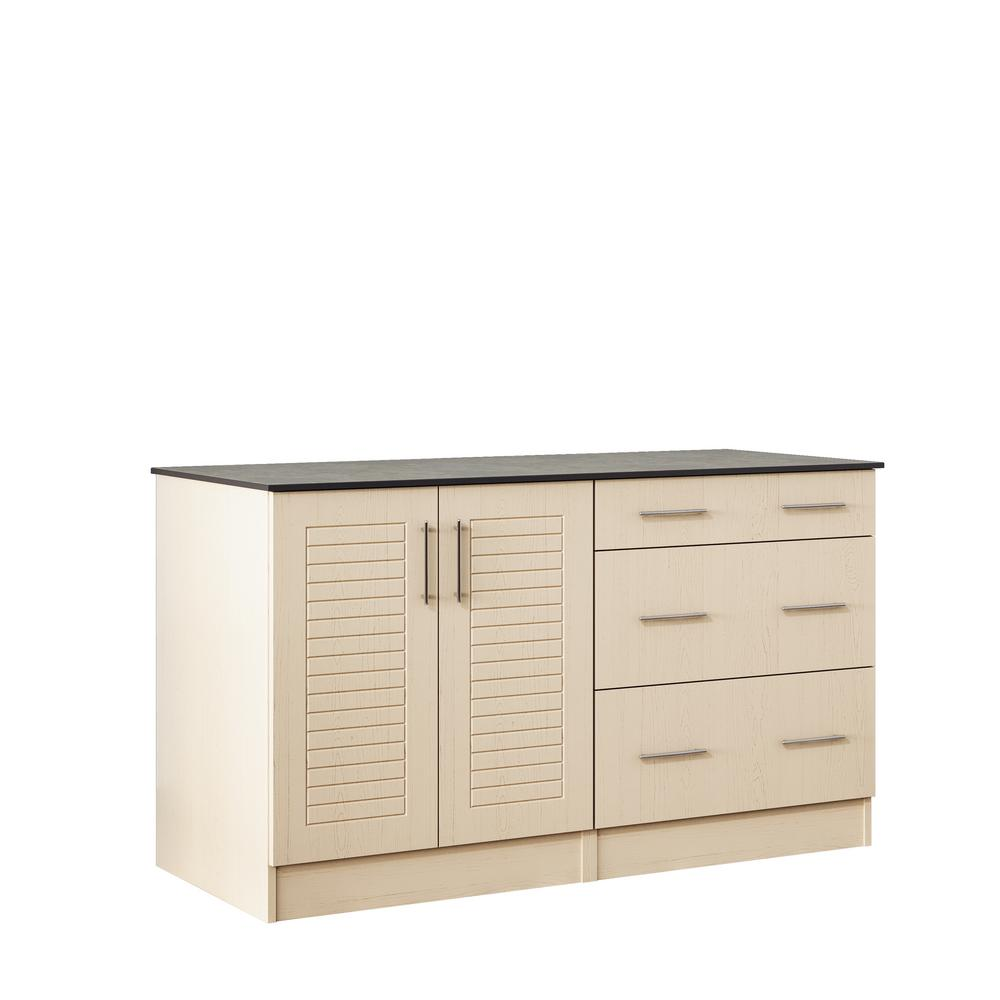 Key West 59.5 in. Outdoor Cabinets with Countertop 2 Full Height