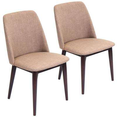Tintori Espresso and Brown Dining / Accent Chair (Set of 2)