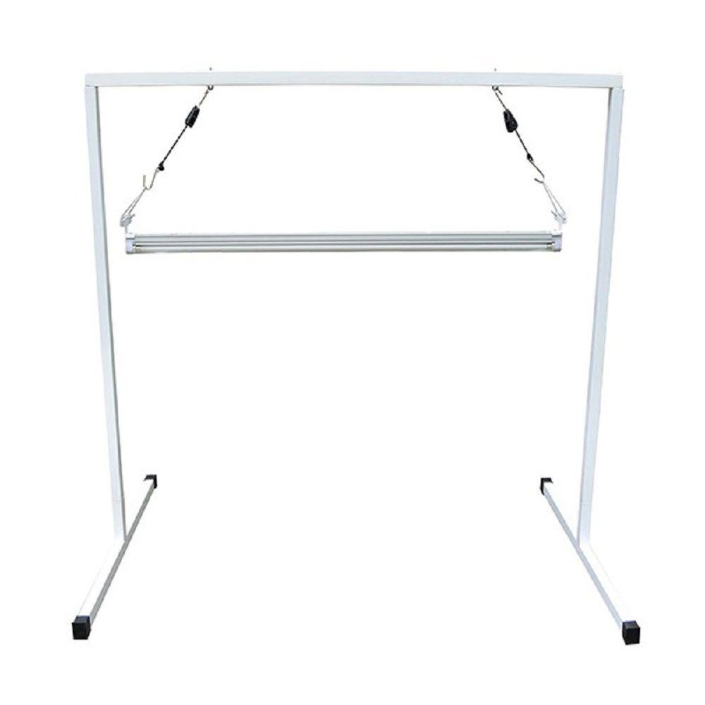 ViaVolt T5 4 ft. Steel White Powder Coated Light Stand with V41 ...