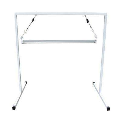 T5 4 ft. Steel White Powder Coated Light Stand with V41 Fluorescent Grow Light Fixture