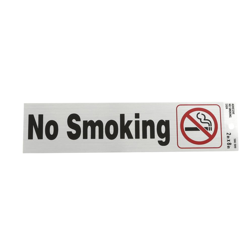 Everbilt 2 In X 8 In Plastic No Smoking Sign 31344 The Home Depot