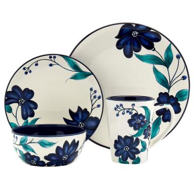 Forget Me Not 16 -Piece Dinnerware Set (Service for 4)
