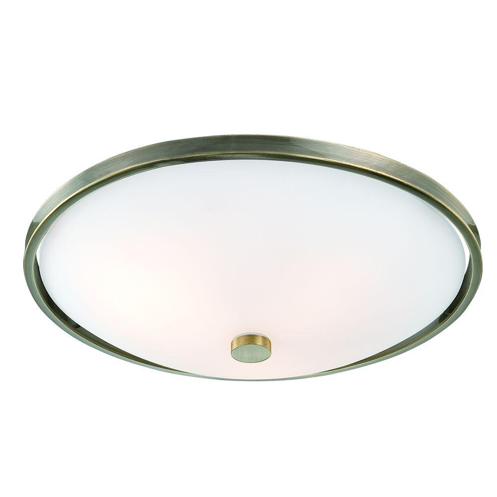 Eurofase Blanko Collection 5-Light Antique Brass Flushmount-DISCONTINUED