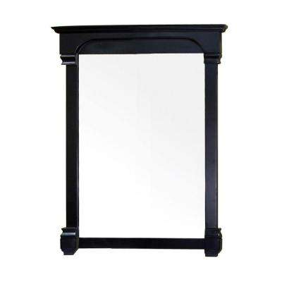 Lindell 42 in. L x 36 in. W Solid Wood Frame Wall Mirror in Espresso