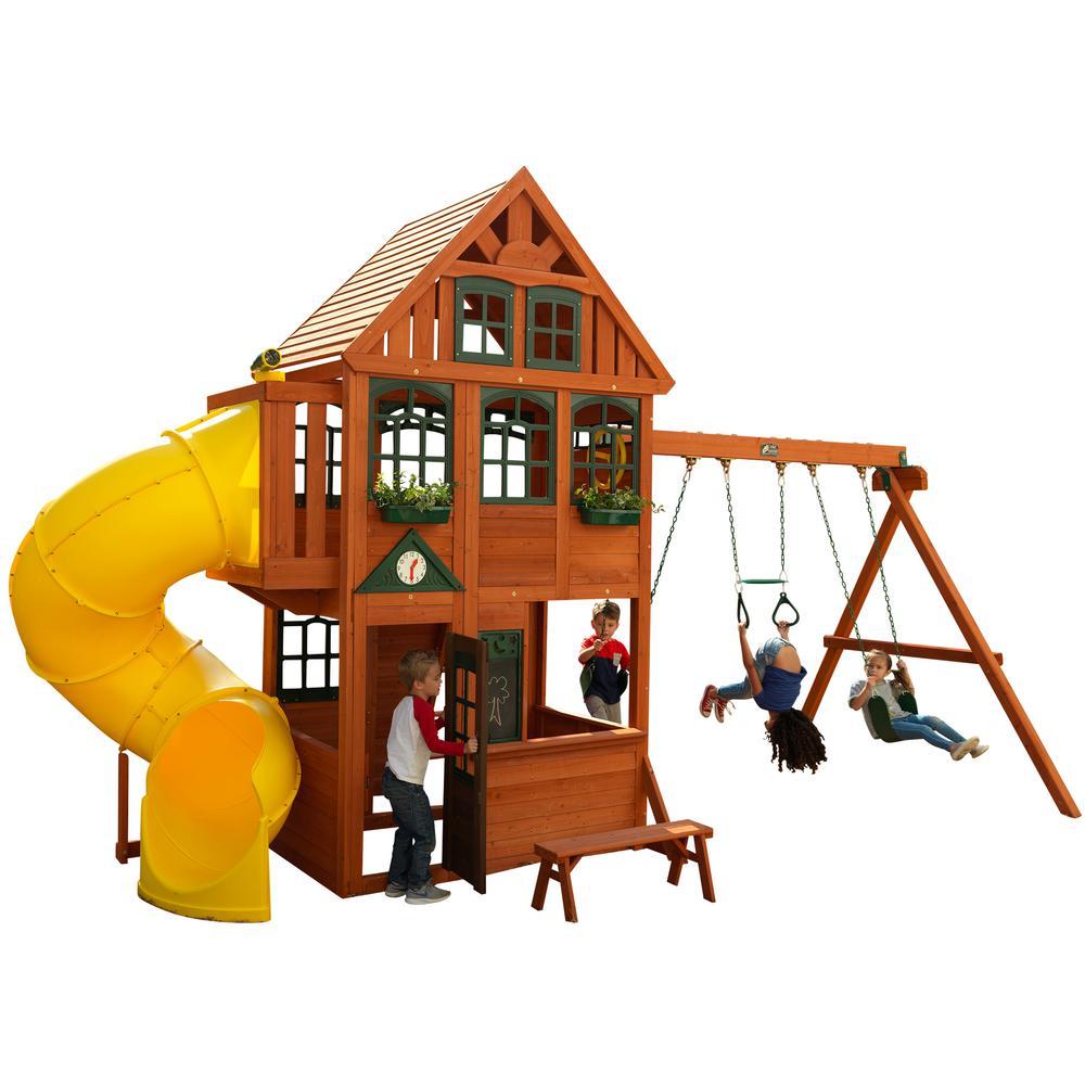 Kidkraft Preston Wooden Playset F24800 The Home Depot