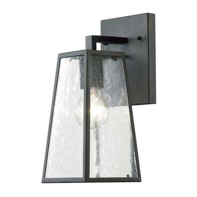 Gloucester Collection 1-Light Textured Matte Black Outdoor Sconce