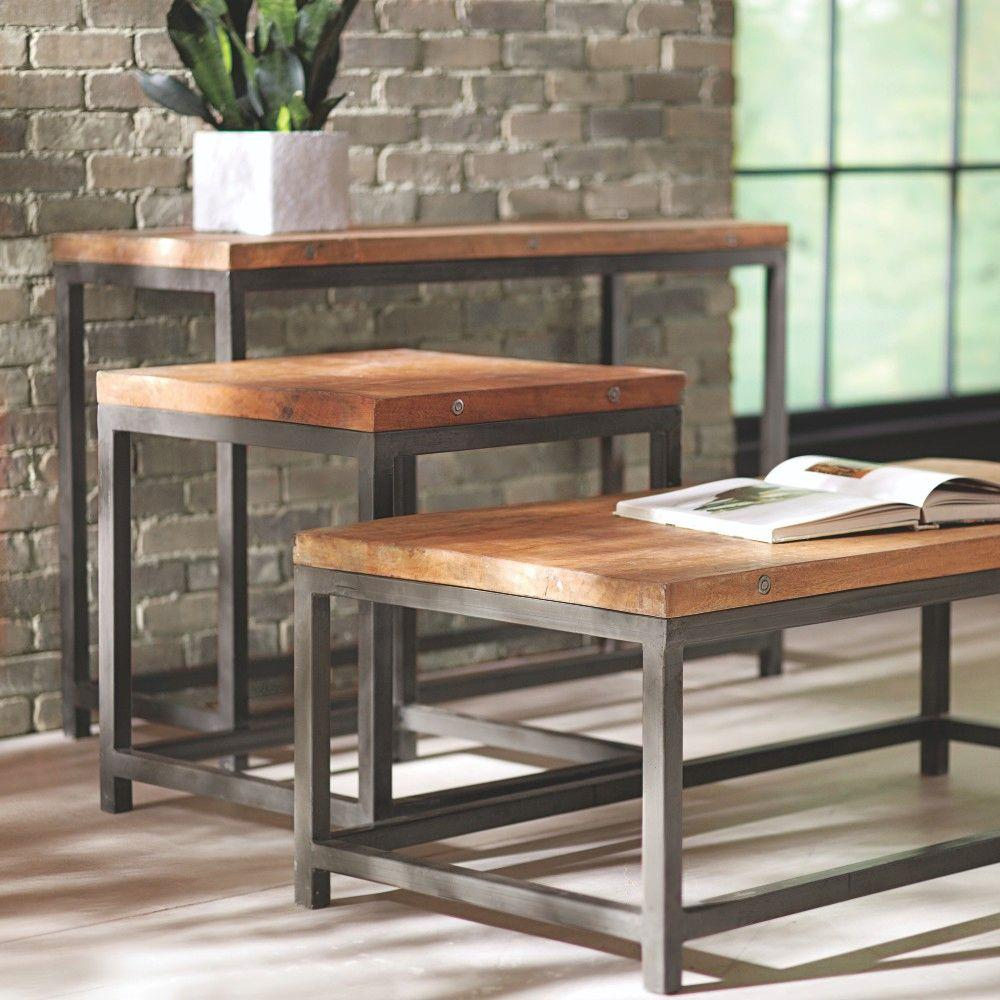 Home Decorators Collection Holbrook Natural Coffee Table 0105600820 The Home Depot