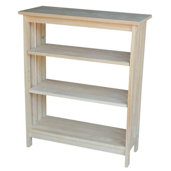 International Concepts Unfinished Open Bookcase SH-3630M