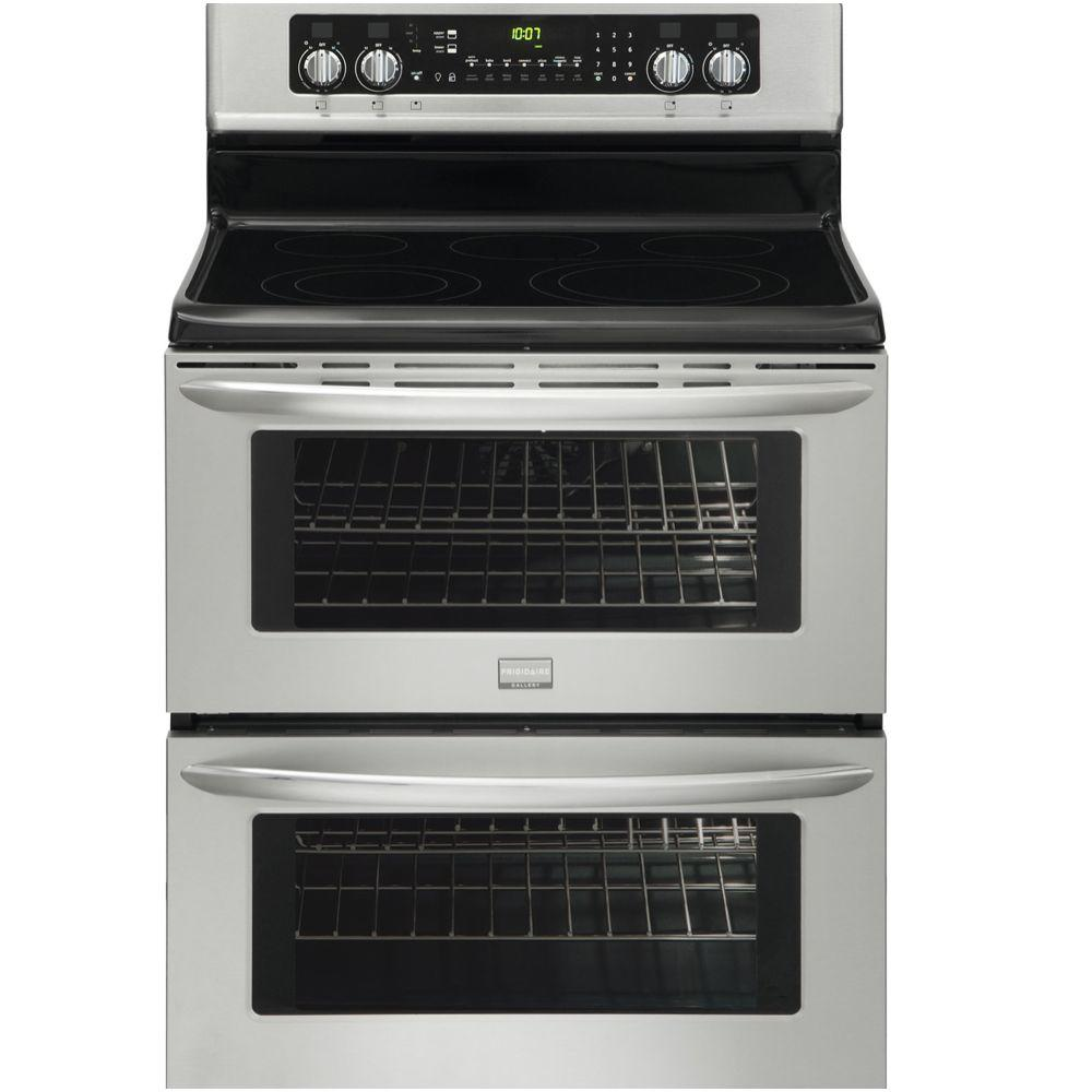Frigidaire 30 in. 7.0 cu. ft. Double Oven Electric Range with Self-Cleaning Convection Oven in Stainless Steel