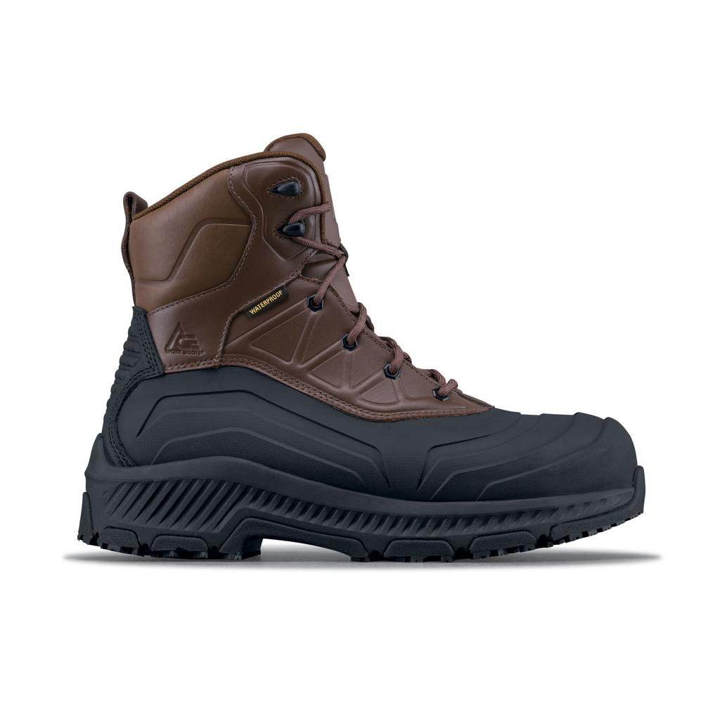 5fa1c1ad3fa Ace Mammoth III CT Unisex Size 15W Brown Leather Slip-Resistant Composite  Toe Work Boot
