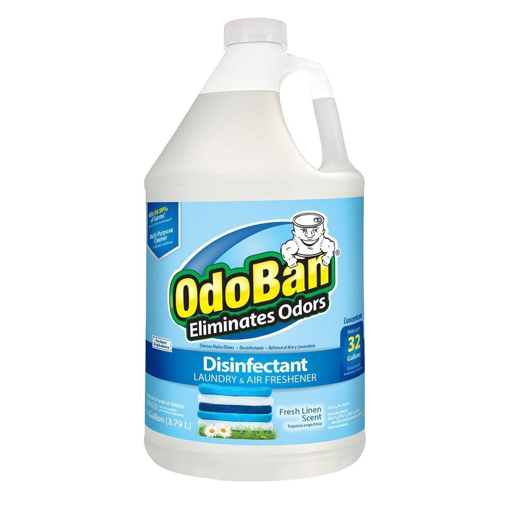 OdoBan 1 Gal. Fresh Linen Disinfectant, Laundry and Air Freshener, Mold and Mildew Control, Multi-Purpose Concentrate