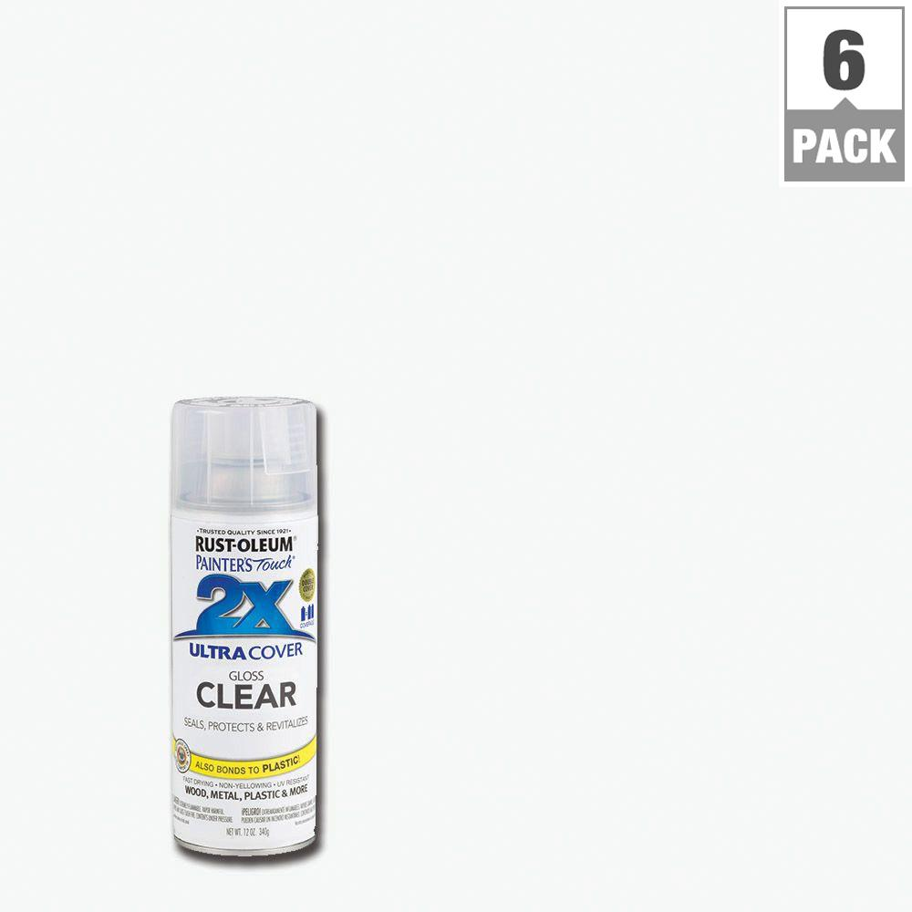 12 oz. Clear Gloss General Purpose Spray Paint (6-Pack)