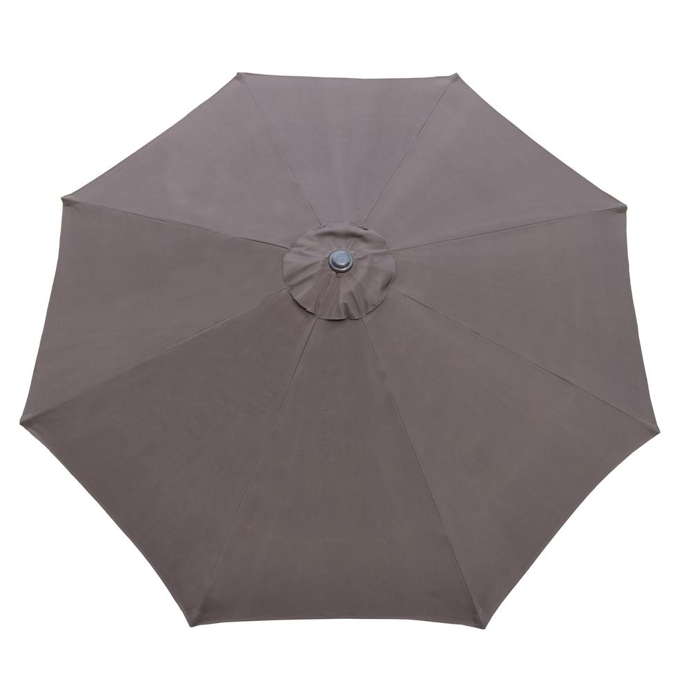 9 ft. Tilt Patio Umbrella in Brown