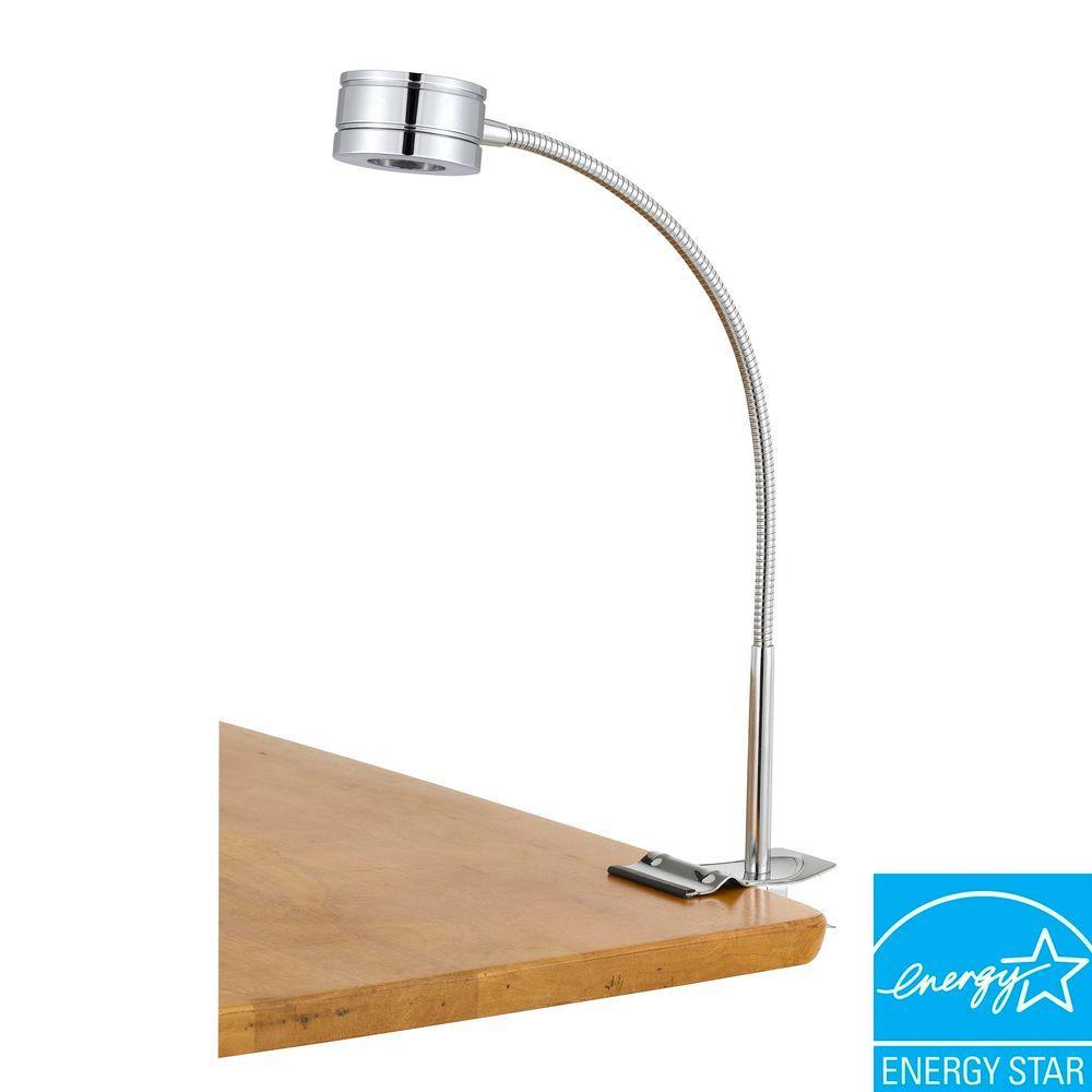 CAL Lighting 5 Watt LED Clip on Lamp in Rust