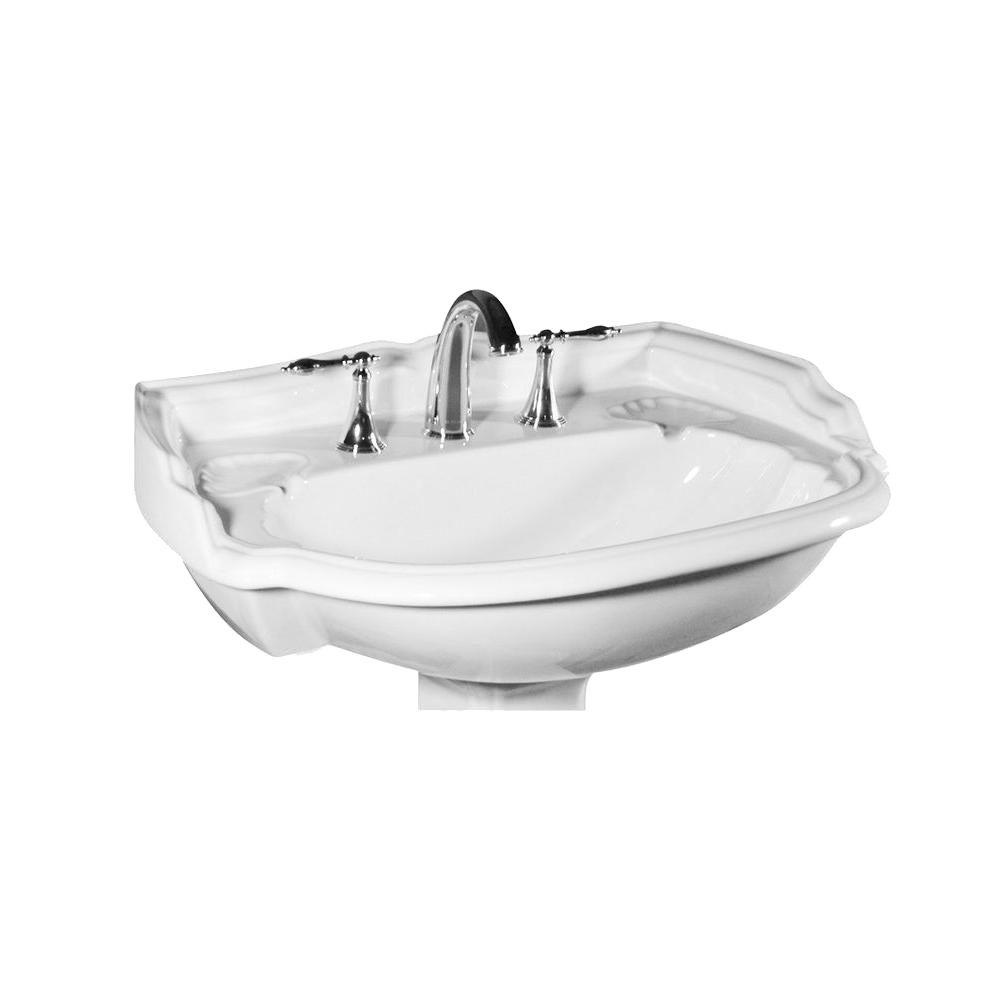 Superieur St. Thomas Creations Barrymore Grande 22.875 In. Pedestal Sink Basin In  Balsa