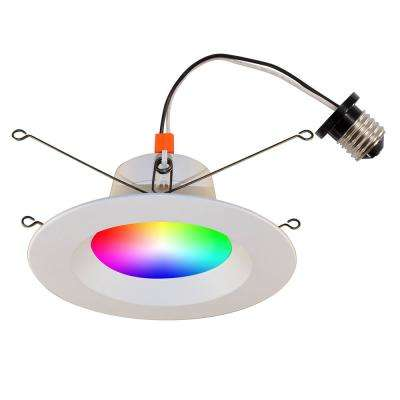 6 in. Wi-Fi RGB LED Tunable New Construction/Remodel Recessed Conversion Kit