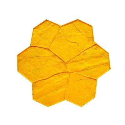 29 in. x 29 in. Random Stone Yellow Texture Mat Concrete Stamp