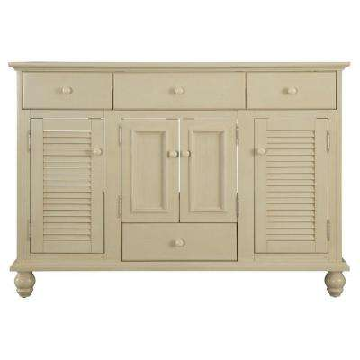 Cottage 48 in. W Bath Vanity Cabinet Only in Antique White