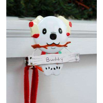 Stocking Holder with Snowman Family Icon, Dog